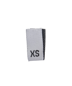size label xs extra small white