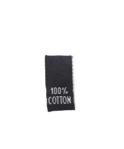 clothing label 100 cotton black