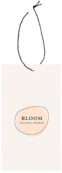 bloom natural makeup tag