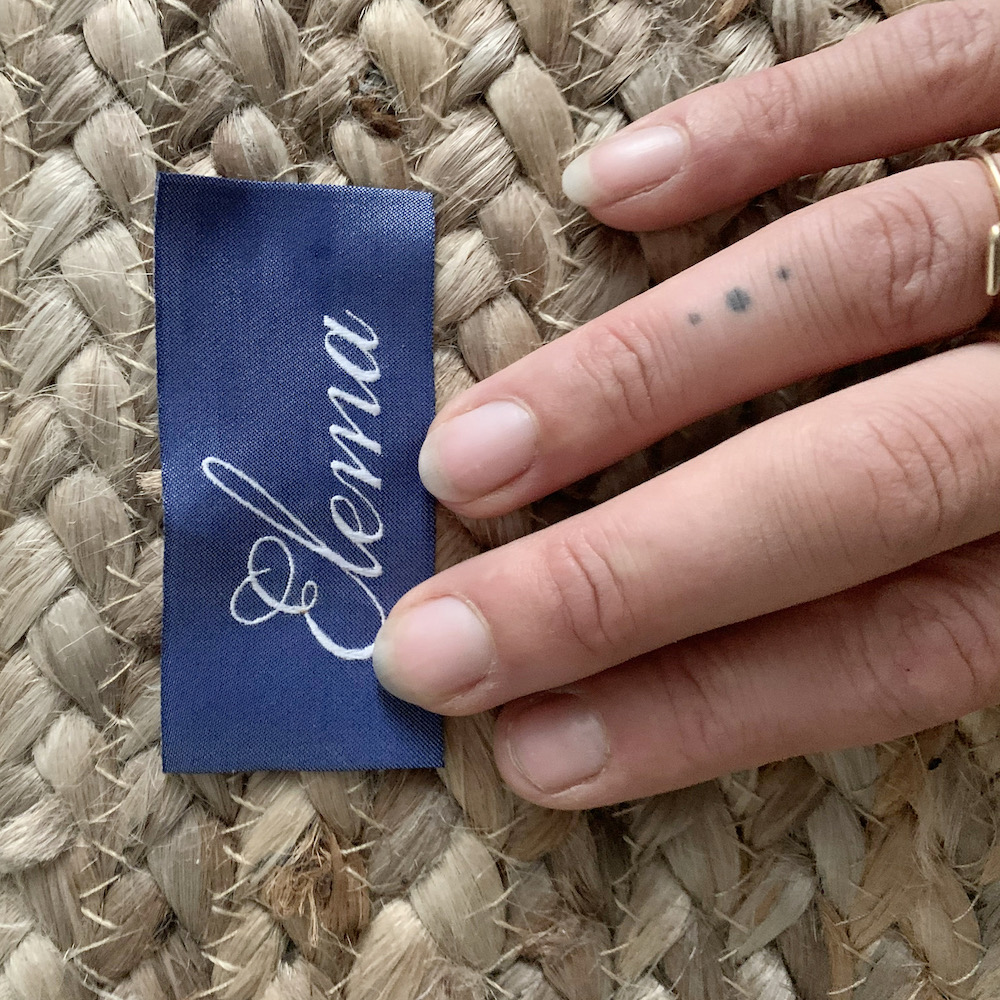 clothing tag royal blue luxe