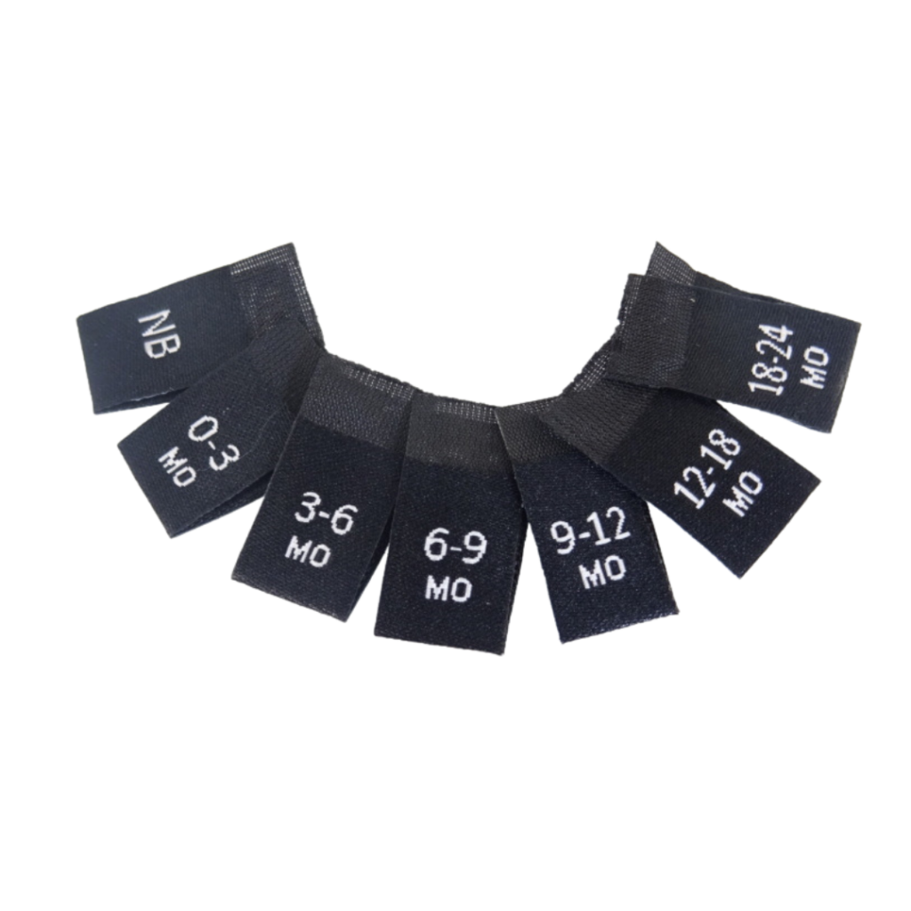 Pre made woven labels maatlabels