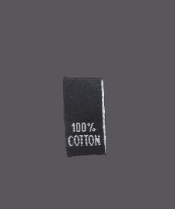 clothing label 100 cotton black