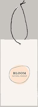 bloom natural makeup tag