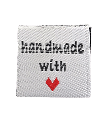 handmade with love label