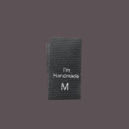 size label cotton handmade black m