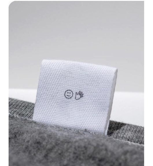 Clothing labels smily hand icon cutom