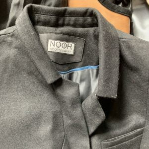 Woven label nobbon neck leather patch gallory 1