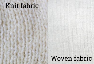 Difference between knit and woven fabric
