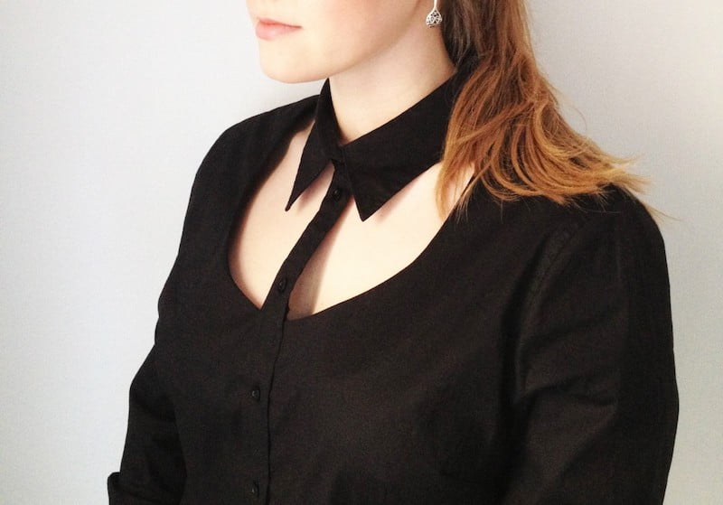cut out collar no sew diy clothes