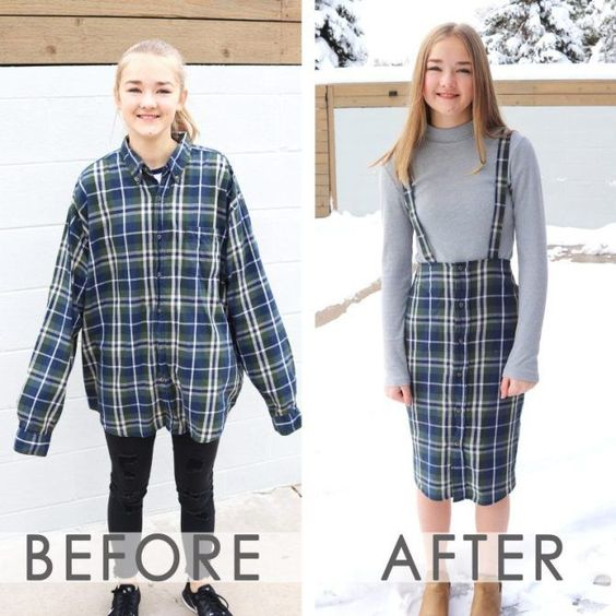 upcycling clothes before and after