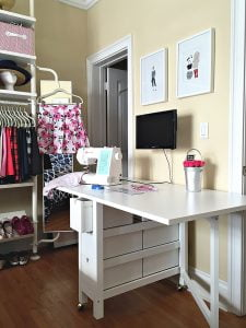 Ikea white sewing table