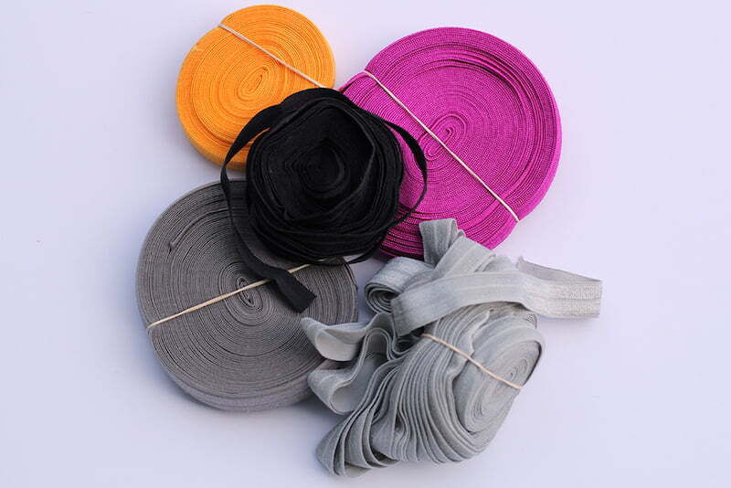 Colored elastic bands for sewing