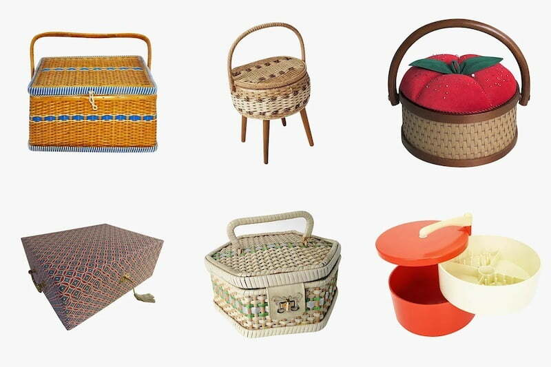 Empty sewing baskets