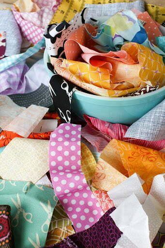 Upcycle fabric scrap bowl