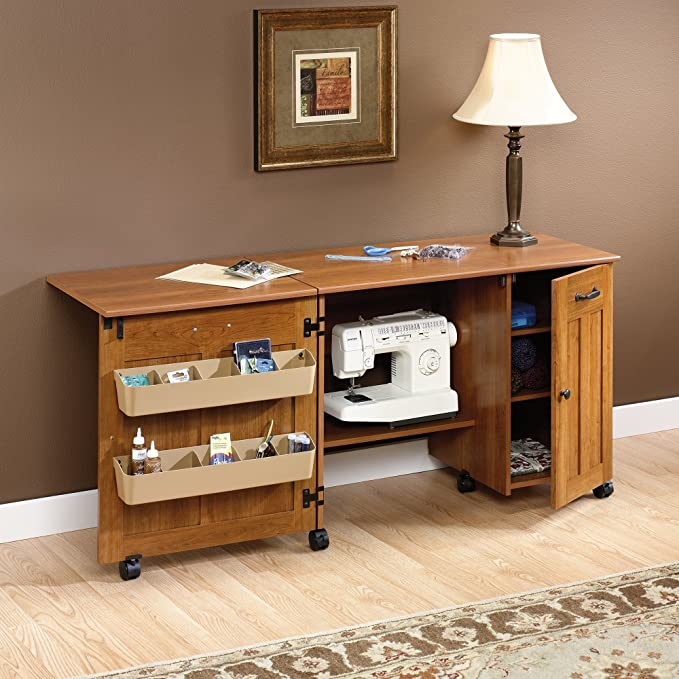 Sewing table with storage