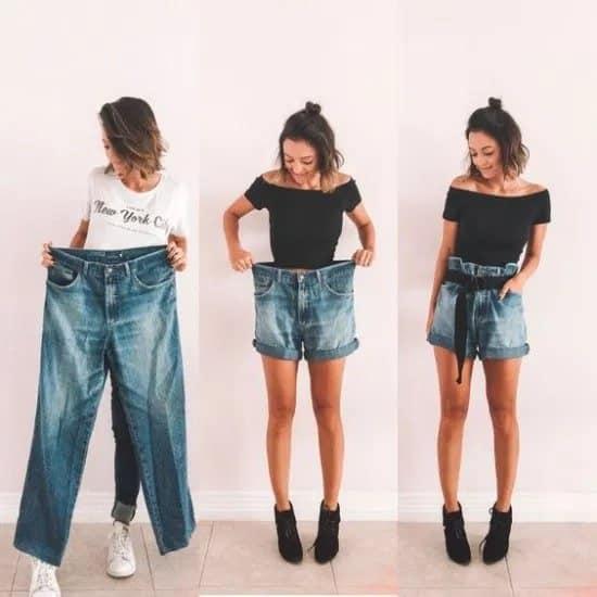 Upcycled denim clothing