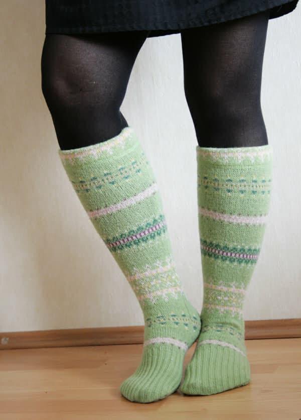 Upcycled sweatshirt to socks