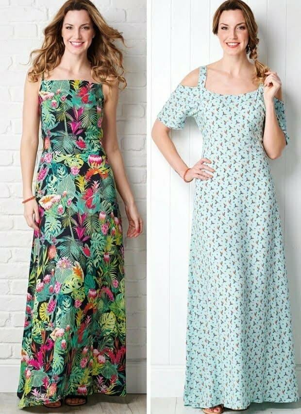 Beginners maxi dress sewing patterns