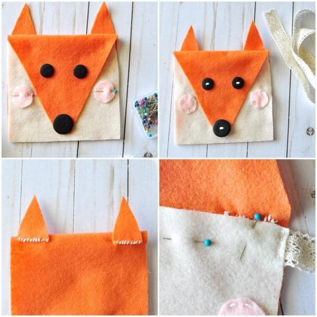 Diy felt fox purse