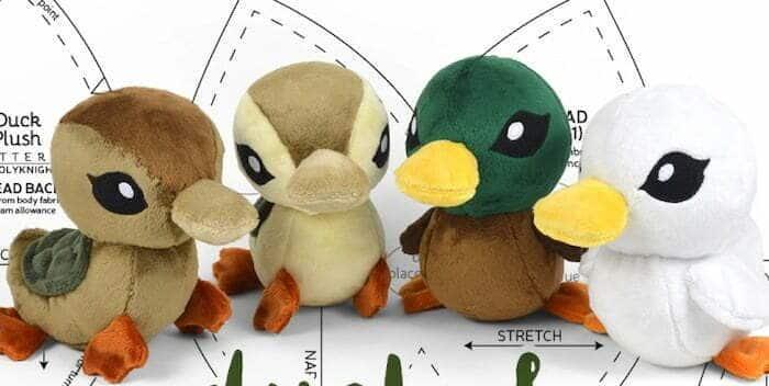 Duck turtle duck plush sewing pattern