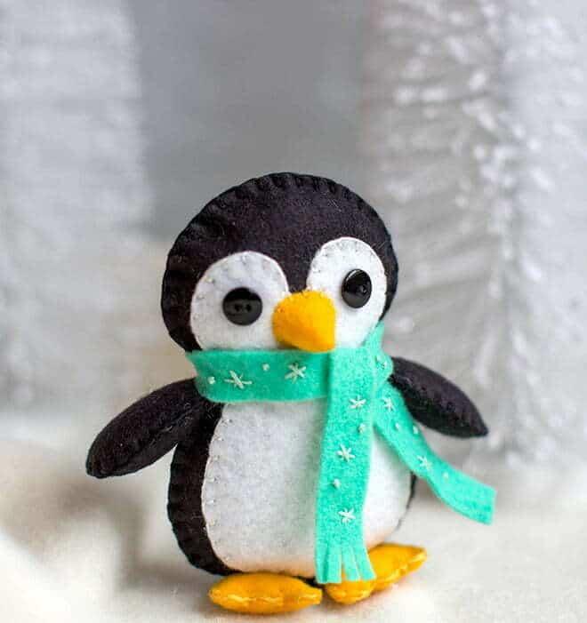 Felt penguin sewing pattern