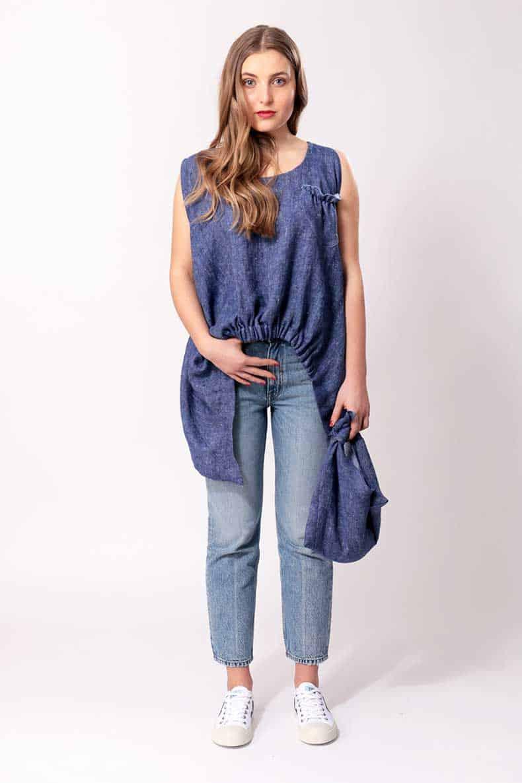 Free sewing pattern zero waste shirt