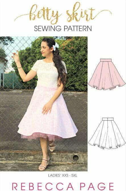 Free skirt sewing pattern