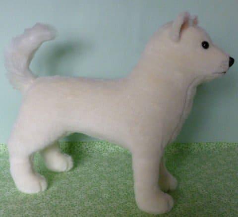 Japanese stuffed dog sewing pattern