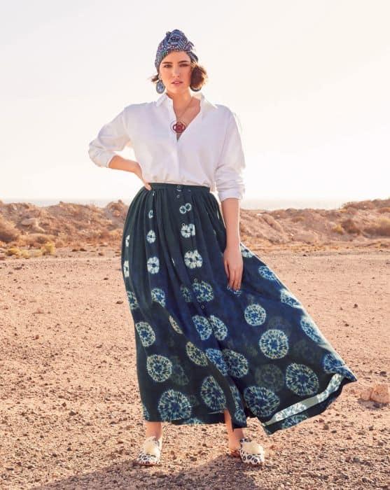 Long skirt pattern