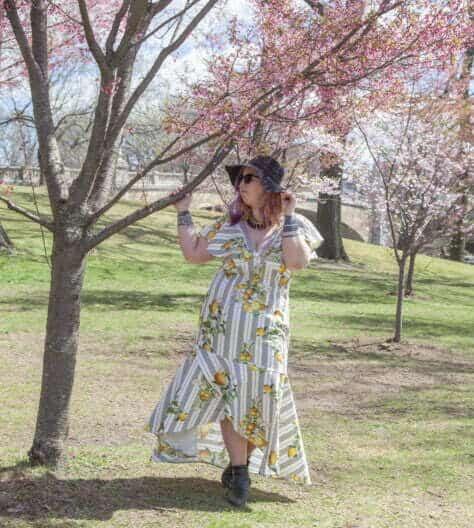Plus-size maxi dress sewing pattern