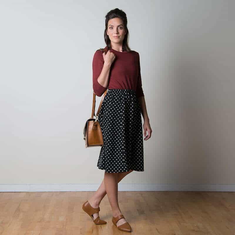Rae skirt sewaholic beginner sewing pattern