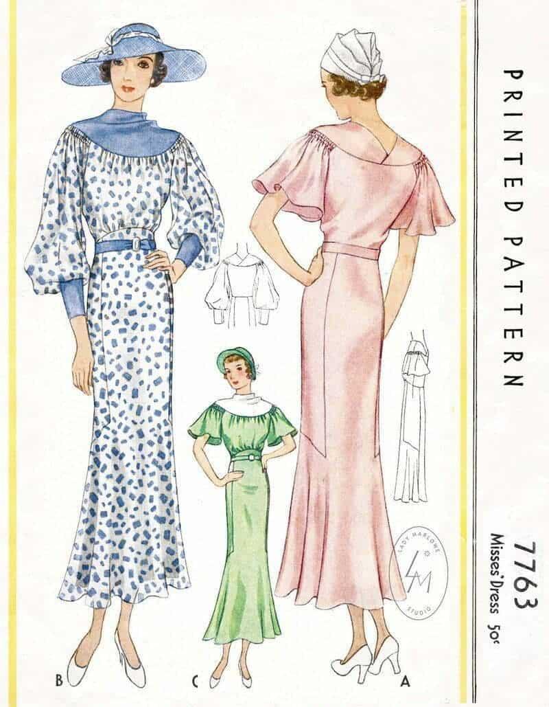 Retro dress sewing patterns