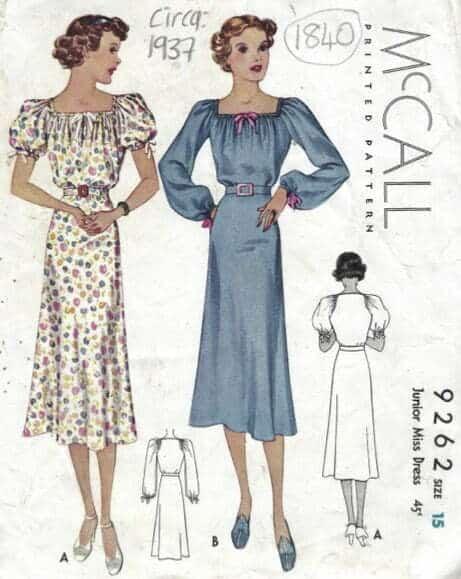 Retro sewing patterns