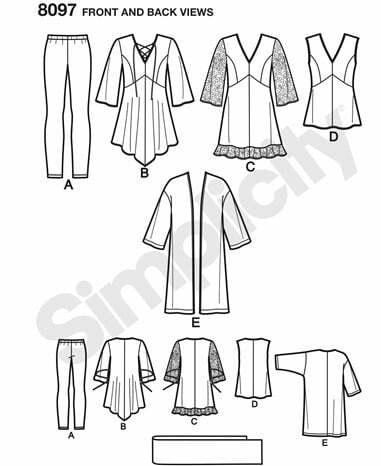 Simplicity plus sizes pattern