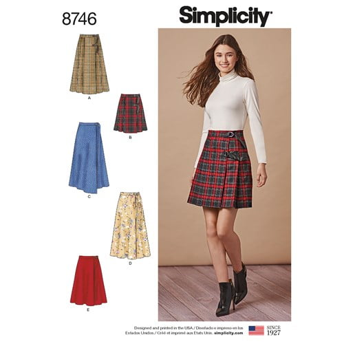 Simplicity tie waist skirt pattern