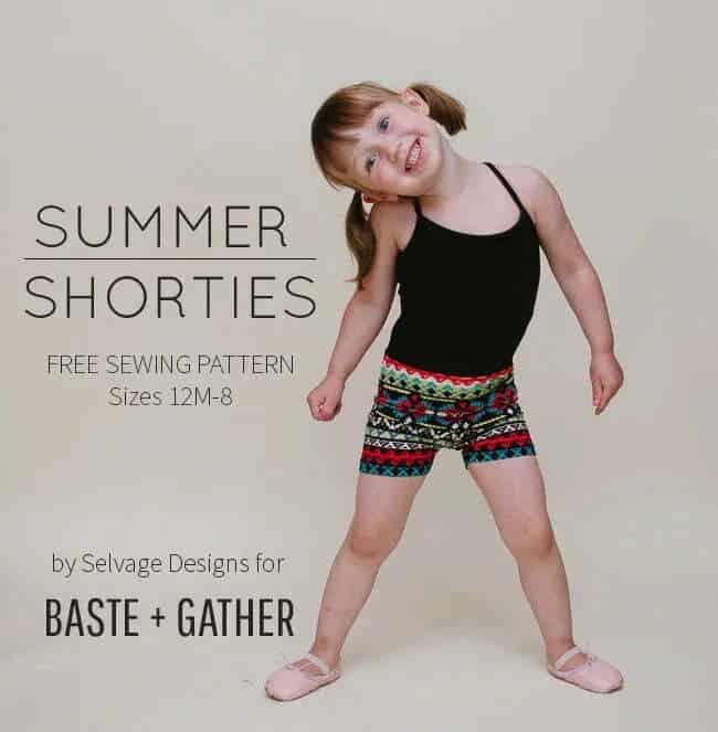 Summer shorties free sewing pattern