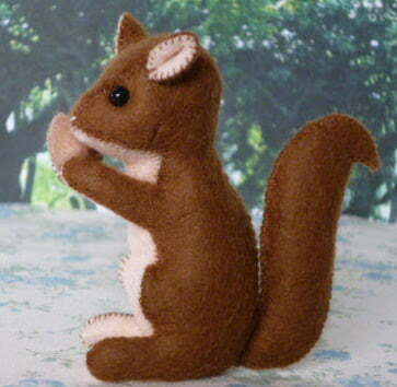 Toy squirrel sewing pattern