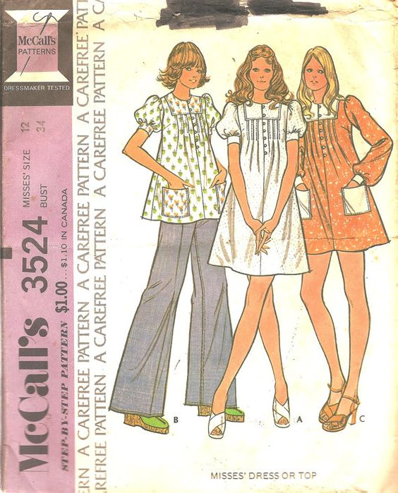 Vintage summer sewing patterns