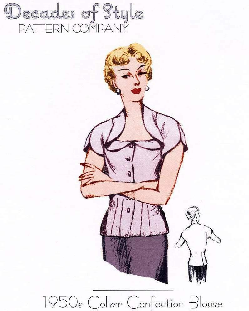 Vintage top sewing pattern