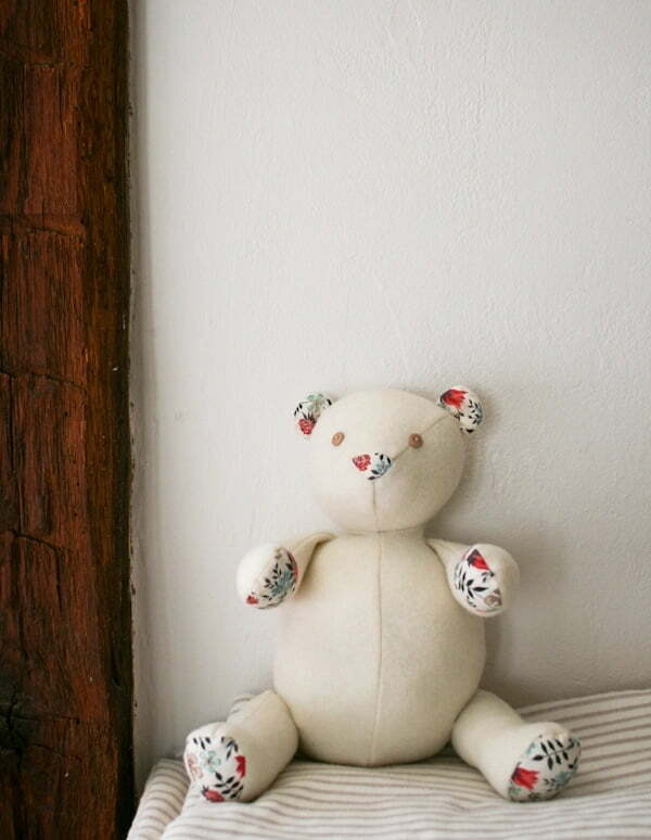 Wool liberty teddy bear