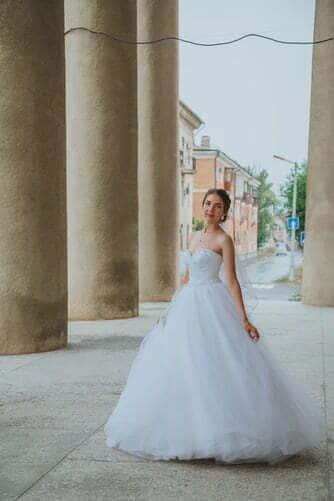Ball gown bridal dress