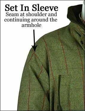 Bonart game tweed shooting jacket set in sleeve