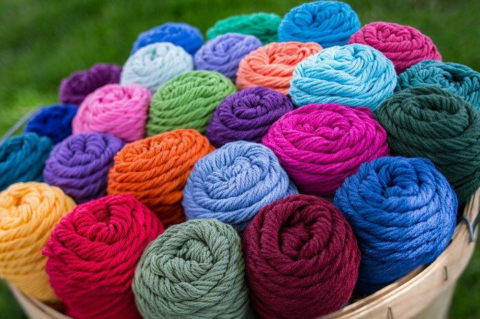 Cotton fleece yarn