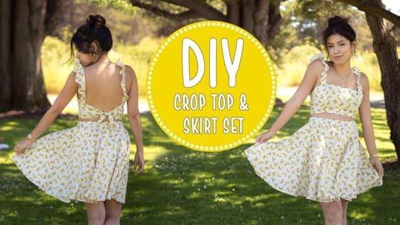 DIY crop top sewing patterns