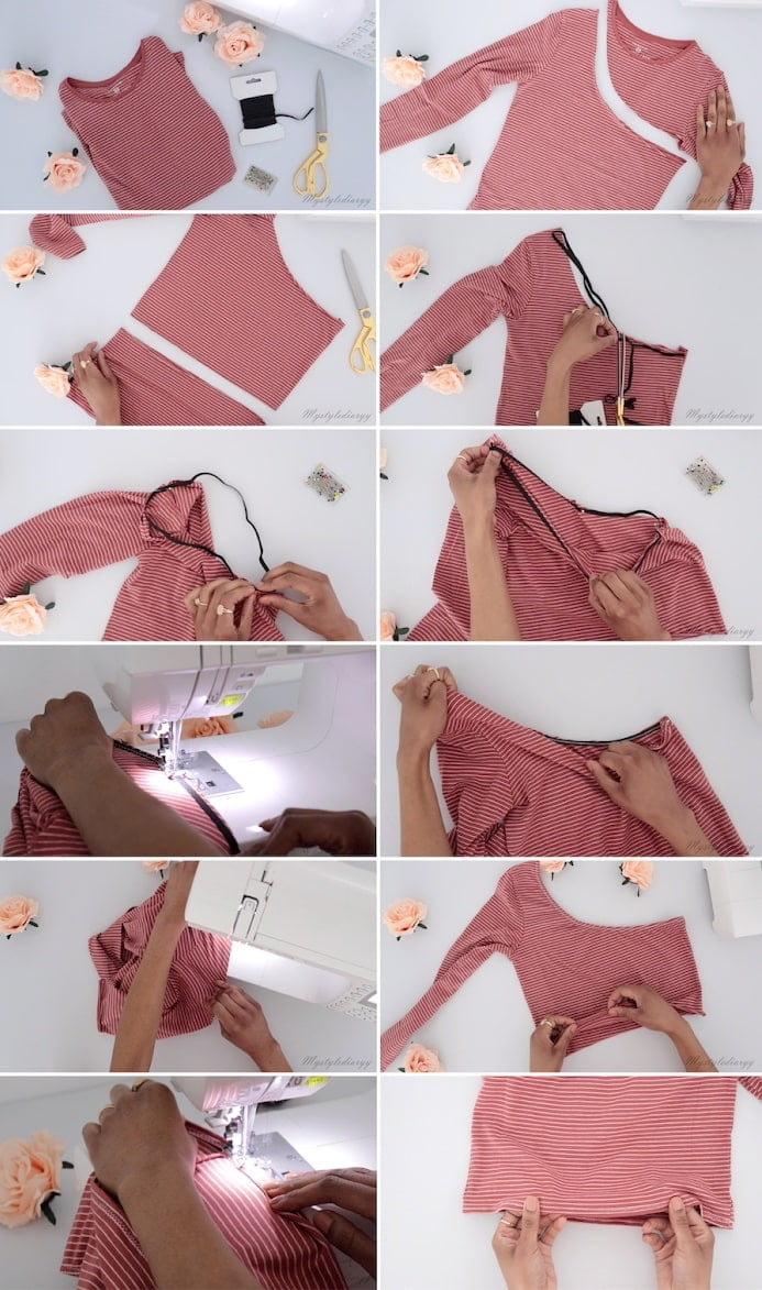 DIY one shoulder top sewing pattern