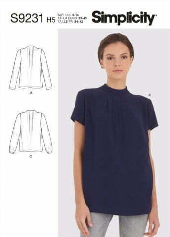 Envelope front shirt pattern