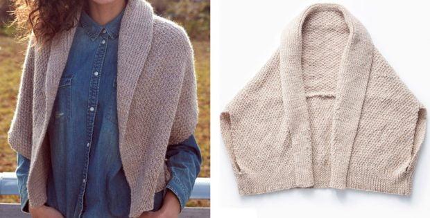 Envelope knitted cardigan