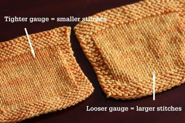 Gauge in knitting