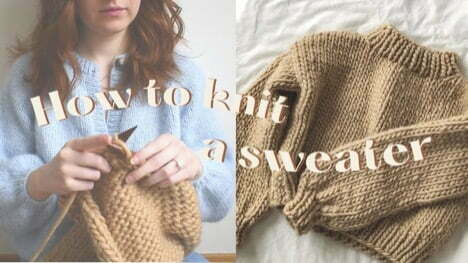 How to knit a chunky sweater