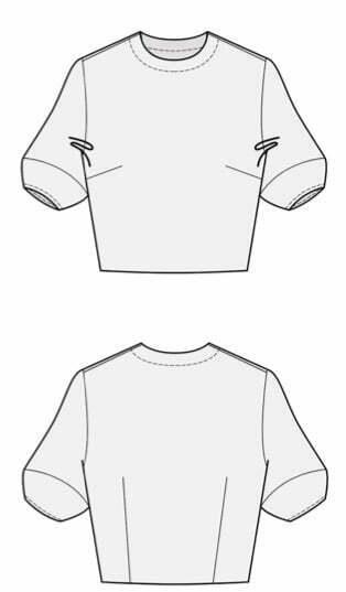 Lantern sleeves pattern